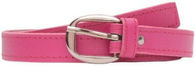 Chaklu Paklu Girls Pink Artificial Leather Belt