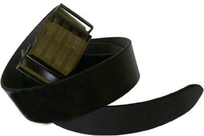 ALEXISE Men Casual Black Genuine Leather Belt