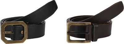 Allura Men Casual Brown, Brown Artificial Leather Belt