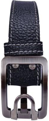 Revo Men Casual Black Genuine Leather Belt