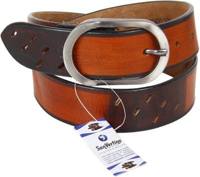 San Vertino Men Brown Genuine Leather Belt