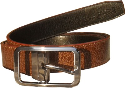 Sanshul Men Formal Brown Genuine Leather Reversible Belt