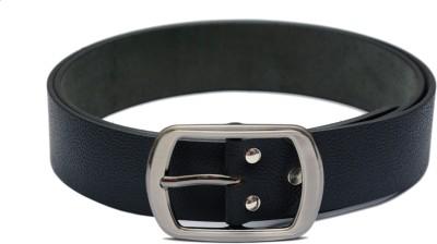LE DAZZIO Men Black Genuine Leather Belt