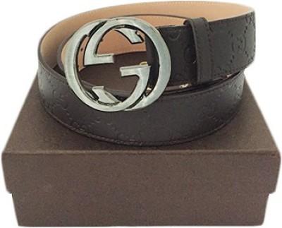 Zaira diamond Men Brown Genuine Leather Belt