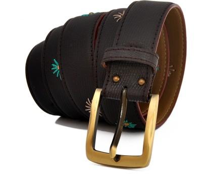 Stylox Men Casual Black Genuine Leather Belt