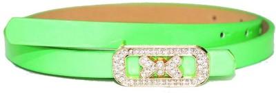Amafhh Girls Party Green Artificial Leather Belt