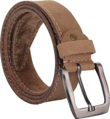 Cottage Accessories Men Tan Genuine Leather Belt