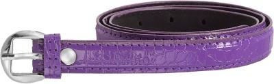palito Girls Purple Genuine Leather Belt