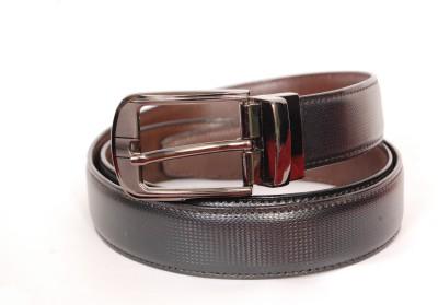 Bluck Men Black, Brown Genuine Leather Reversible Belt