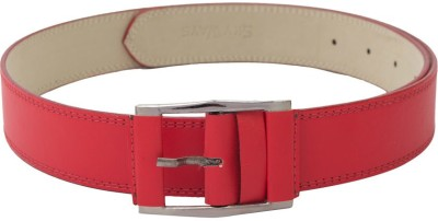 SkyWays Men Evening/Party, Casual Red Artificial Leather Belt