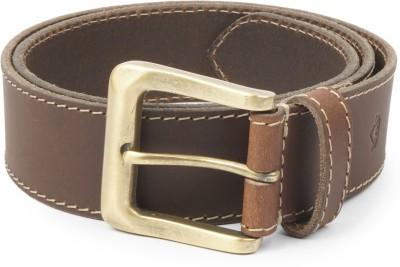 Wolux Men Brown Genuine Leather Belt
