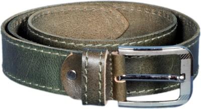 Mughals Men Green Genuine Leather Belt