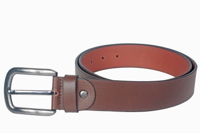 Kara Men Casual Brown Genuine Leather Belt