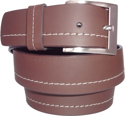 Revo Men Casual Brown Genuine Leather Belt