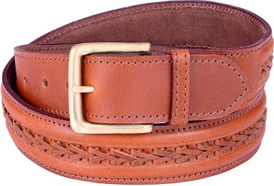 Thayla Men Tan Genuine Leather Belt