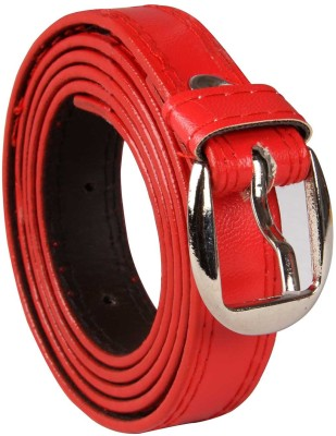 Harp Men, Boys, Girls, Women Casual, Party, Formal, Evening Red Artificial Leather Belt