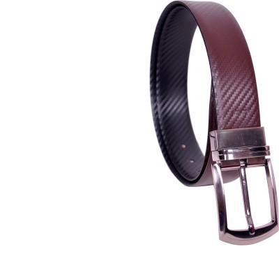 KOLT Boys Brown, Black Genuine Leather Reversible Belt