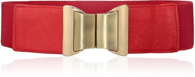 Calvino Women Casual, Formal Red Artificial Leather Belt