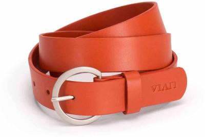 Viari Women Casual Orange Genuine Leather Belt