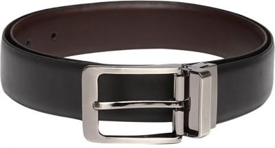 Invictus Men Casual Black Genuine Leather Reversible Belt
