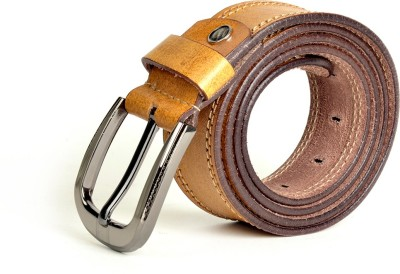Just Differ Men, Boys Casual, Evening, Formal, Party Tan Genuine Leather Belt