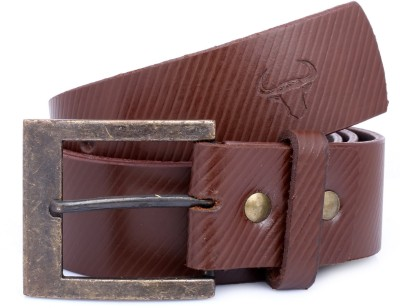 Bull Garments Men Casual Brown Genuine Leather Belt