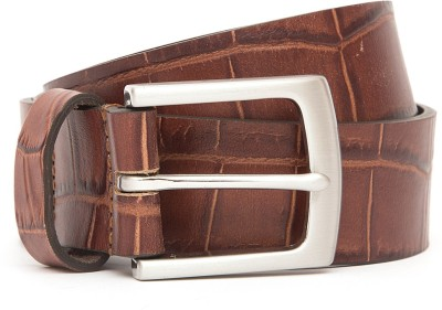 Kethini Men Casual Tan Genuine Leather Belt