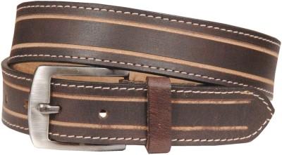 Swastika Men Party Brown Genuine Leather Belt