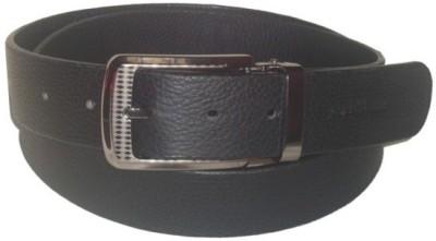 Jaws N Horns Men Formal, Casual Black Genuine Leather Reversible Belt
