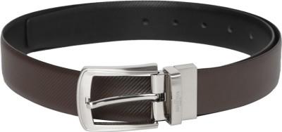 Invictus Men Black Genuine Leather Belt