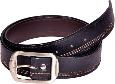 Swan Collection Boys, Men Formal, Casual, Evening Black Artificial Leather Belt