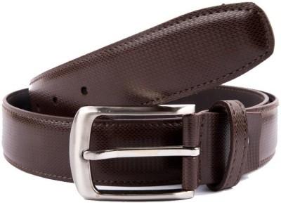 Hugo Broun Men Brown Genuine Leather Belt