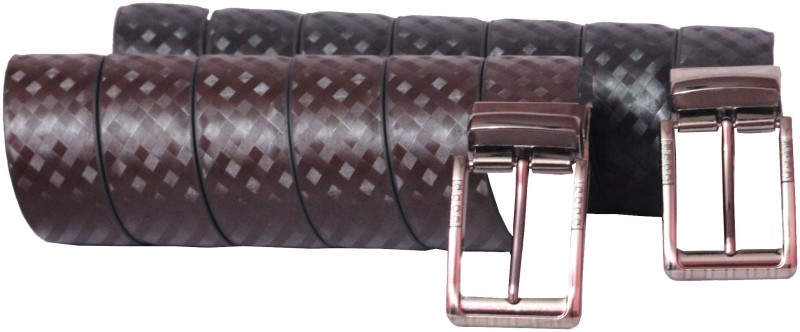 Rasso Men Casual, Formal Black, Brown Artificial Leather Reversible Belt