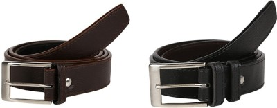 Allura Men Formal Black, Brown Artificial Leather Belt