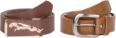 Mdr Collections Men Casual Brown Artificial Leather Belt