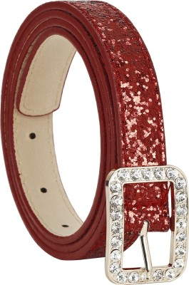 Freshka Women Party Red Artificial Leather Belt