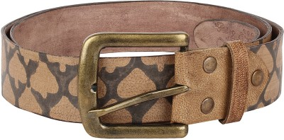 Rub&Style Men Brown Genuine Leather Belt
