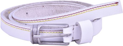 Bonafide Leathers Women White Genuine Leather Belt