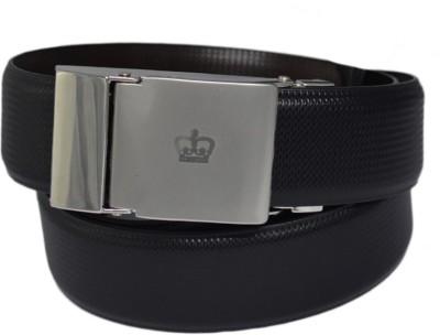 LEE O Men Black Genuine Leather Reversible Belt