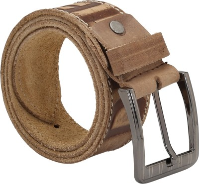 Indian Style Men Casual Beige Genuine Leather Belt