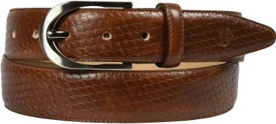 James Aston Men Formal Brown Genuine Leather Belt