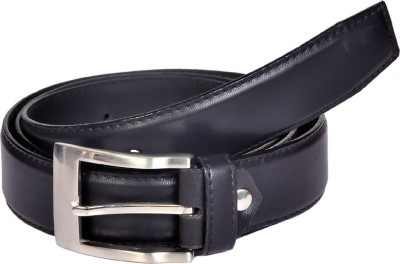 Swan Collection Men, Boys Casual, Formal Black Artificial Leather Belt