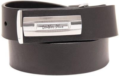 Leather Plus Men Formal Black Genuine Leather Belt