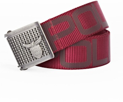 883 Police Men Casual Red Fabric Belt