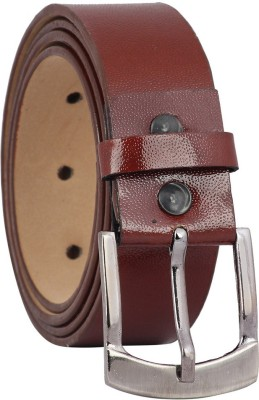 Fashno Men Casual Brown Artificial Leather Belt