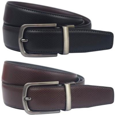 Natali Traders Men, Boys Formal Black, Brown Artificial Leather Reversible Belt