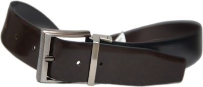 Leefab Men Formal Black Genuine Leather Reversible Belt