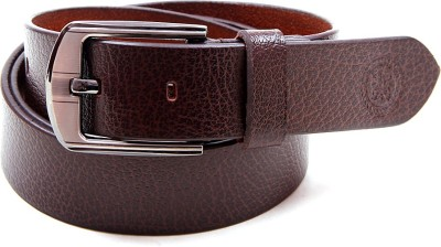 Harex Boys, Men Casual, Party, Formal, Evening Brown Genuine Leather Belt