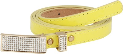Aadi And Sons Women Casual Yellow Artificial Leather Belt