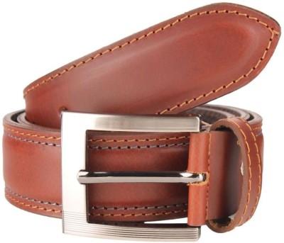 Umda Men Casual Tan Genuine Leather Belt